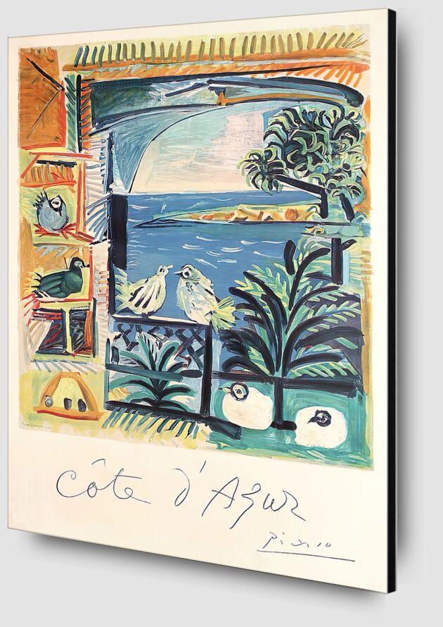 Côte d'Azur - The studio of Velazquez and his Pigeons - Picasso desde AUX BEAUX-ARTS Zoom Alu Dibond Image