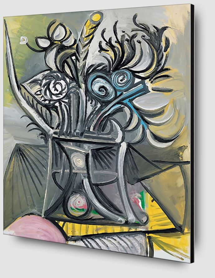 Vase of Flowers on a Table - Picasso desde AUX BEAUX-ARTS Zoom Alu Dibond Image