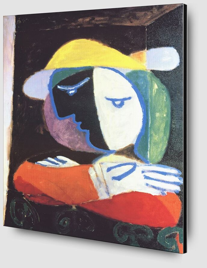 Woman on the Balcony - PIcasso desde AUX BEAUX-ARTS Zoom Alu Dibond Image