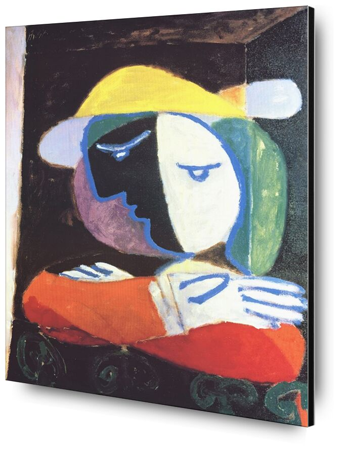 Woman on the Balcony - PIcasso desde AUX BEAUX-ARTS, Prodi Art, picasso, mujer, pintura, abstracto