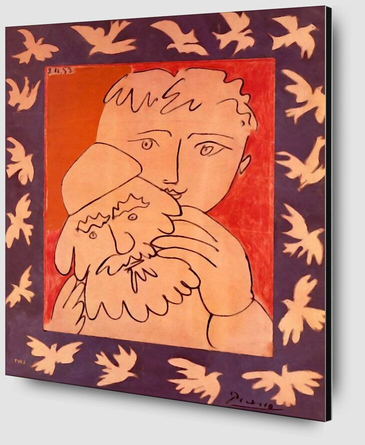 New Year - Picasso from AUX BEAUX-ARTS Zoom Alu Dibond Image