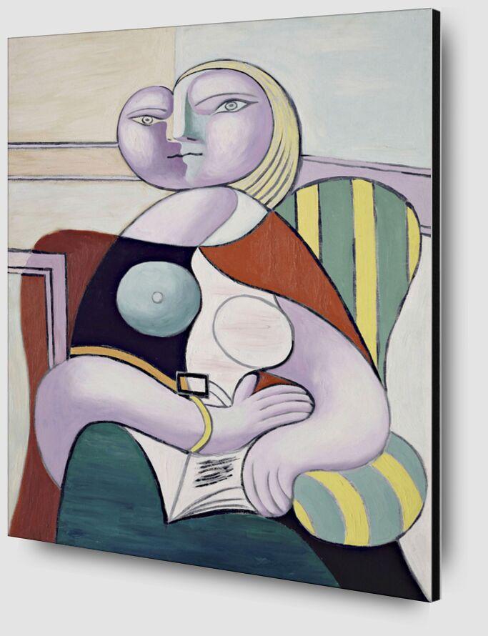 Woman Reading - Picasso desde AUX BEAUX-ARTS Zoom Alu Dibond Image