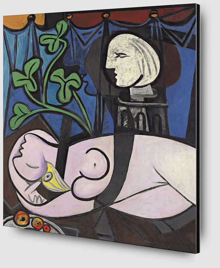 Nude, Green Leaves and Bust - Picasso from AUX BEAUX-ARTS Zoom Alu Dibond Image
