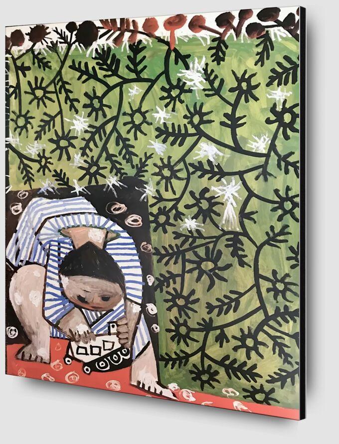 Enfant Jouant - Picasso de AUX BEAUX-ARTS Zoom Alu Dibond Image