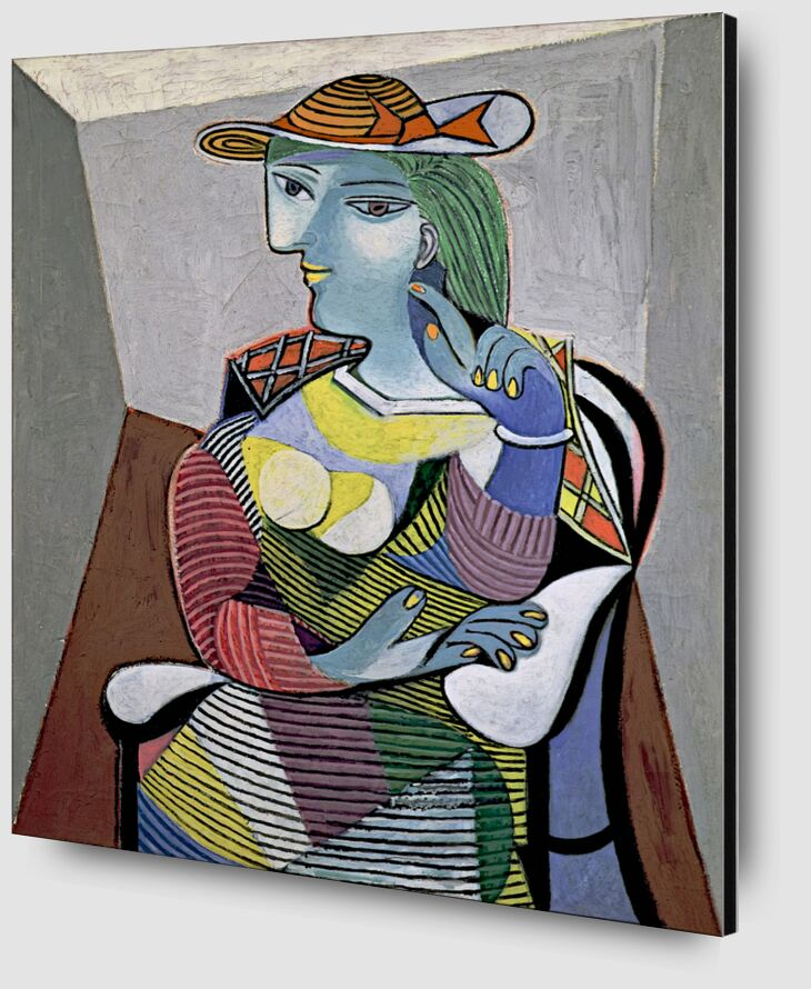 Portrait of Marie-Therese - Picasso desde AUX BEAUX-ARTS Zoom Alu Dibond Image