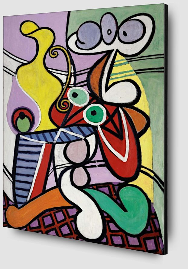 Large Still Life with Pedestal Table - Picasso desde AUX BEAUX-ARTS Zoom Alu Dibond Image