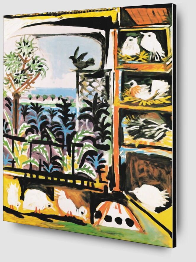 The Pigeons 1957 - Picasso desde AUX BEAUX-ARTS Zoom Alu Dibond Image