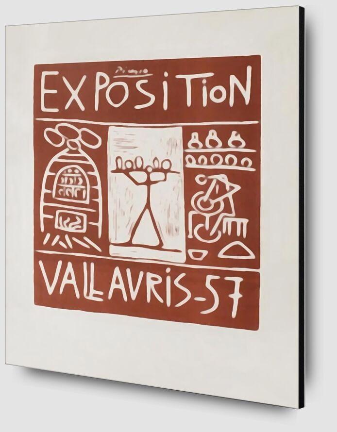 Affiche 1957 - Exposition Vallauris - Picasso de AUX BEAUX-ARTS Zoom Alu Dibond Image