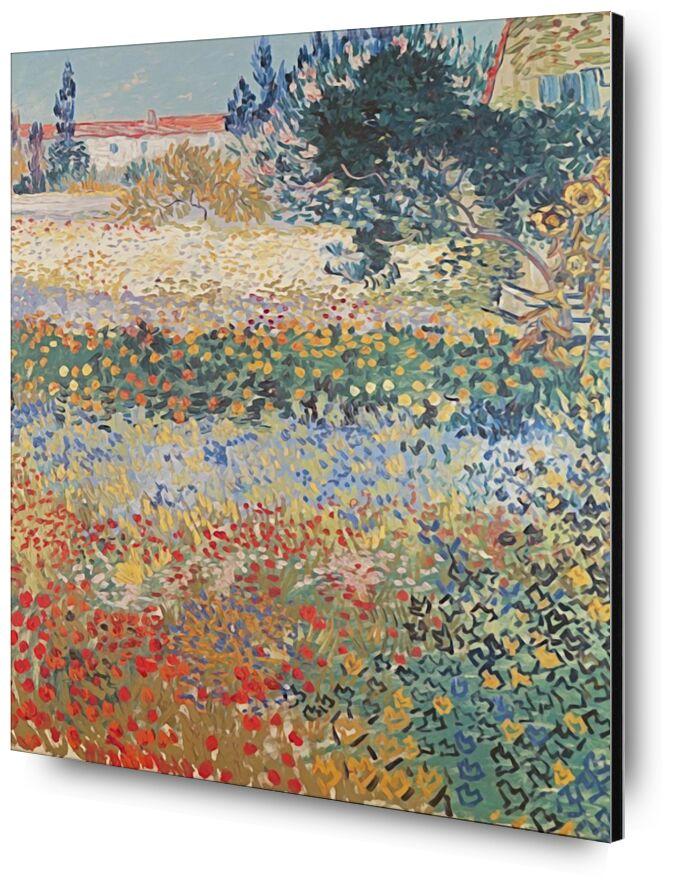 Garden in Bloom Arles - Van Gogh from AUX BEAUX-ARTS, Prodi Art, garden, flowers, landscape, painting, Van gogh