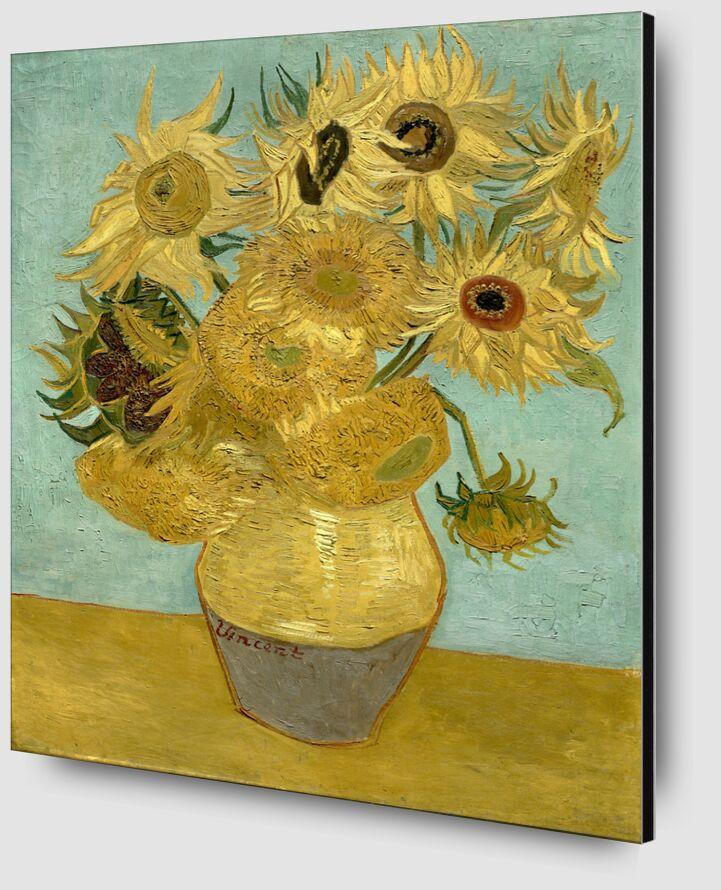 Sunflowers - Van Gogh desde AUX BEAUX-ARTS Zoom Alu Dibond Image