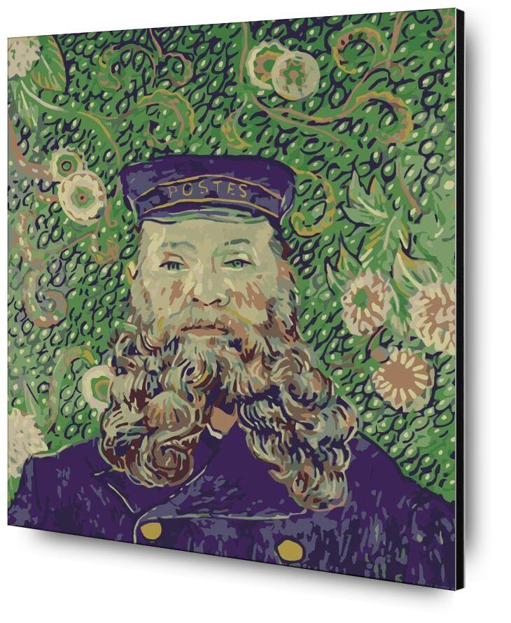 Portrait of the Postman Joseph Roulin - Van Gogh from AUX BEAUX-ARTS, Prodi Art, Van gogh, painting, portrait, postman, post, mail