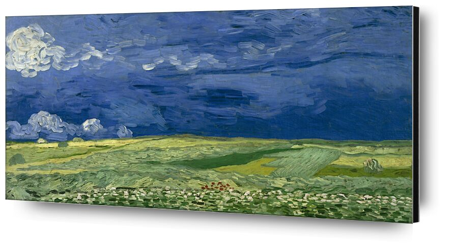 Wheatfield under Thunderclouds - Van Gogh from AUX BEAUX-ARTS, Prodi Art, Van gogh, cloud, painting, abstract, thunderstorm