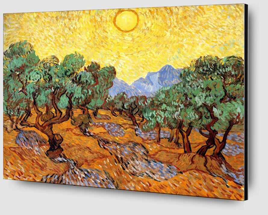 Sun over Olive Grove - Van Gogh desde AUX BEAUX-ARTS Zoom Alu Dibond Image