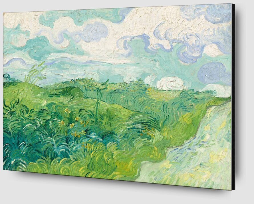 Green Wheat Fields, Auvers - Van Gogh desde AUX BEAUX-ARTS Zoom Alu Dibond Image