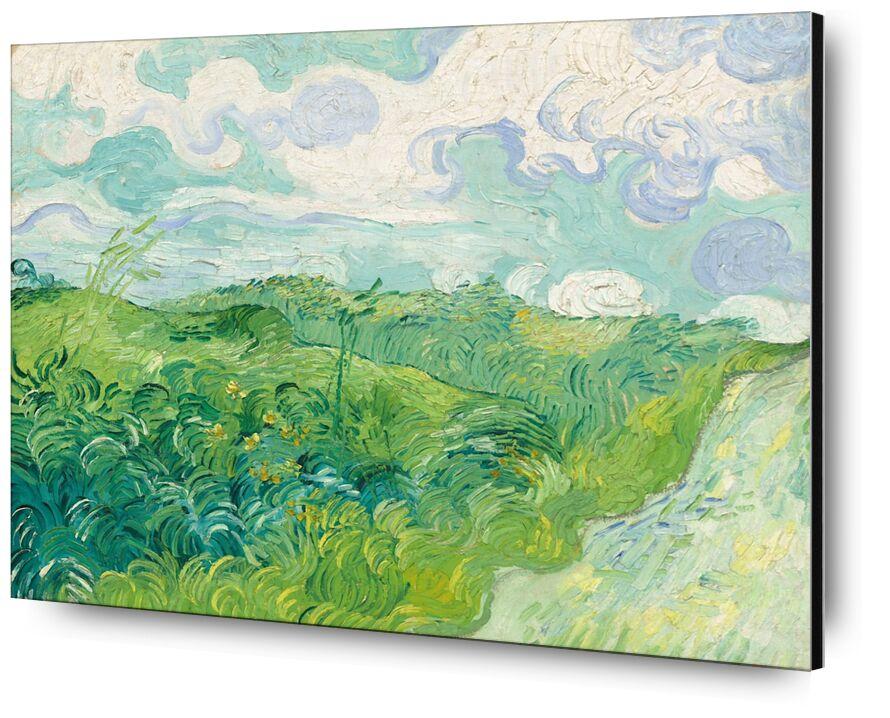 Green Wheat Fields, Auvers - Van Gogh desde AUX BEAUX-ARTS, Prodi Art, cielo, paisaje, campos de trigo, Van gogh, pintura, nubes