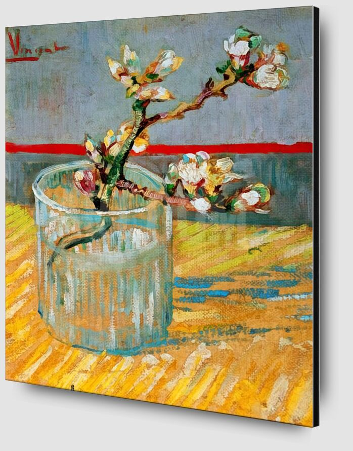 Blossoming Almond Branch in a Glass - Van Gogh desde AUX BEAUX-ARTS Zoom Alu Dibond Image