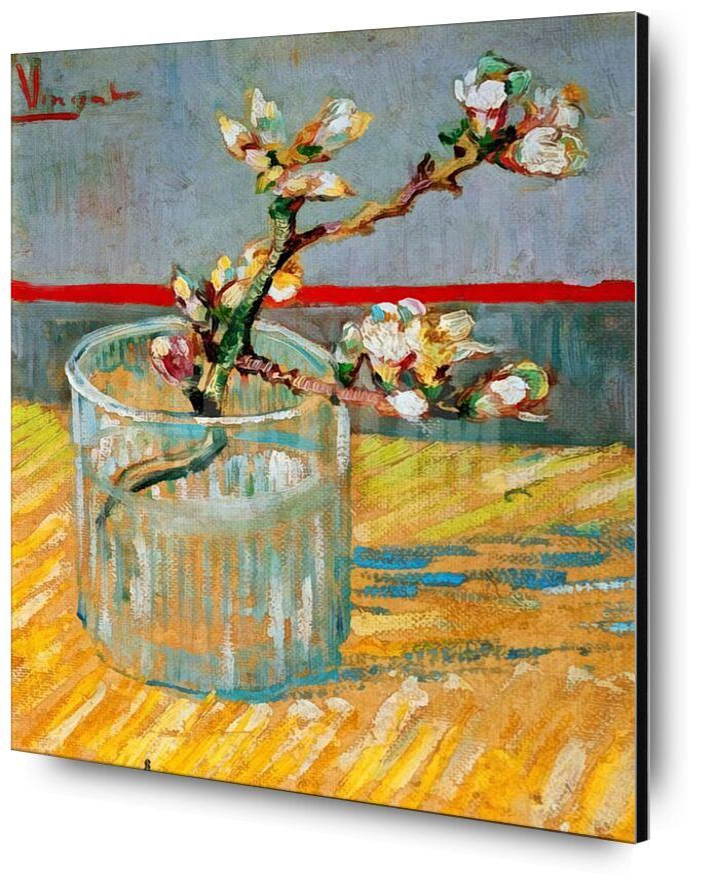 Blossoming Almond Branch in a Glass - Van Gogh desde AUX BEAUX-ARTS, Prodi Art, almendra, almendra, rama, pintura, Van gogh