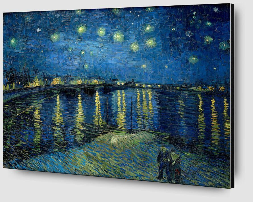 La Nuit Étoilée au Dessus du Rhône- Van Gogh de AUX BEAUX-ARTS Zoom Alu Dibond Image
