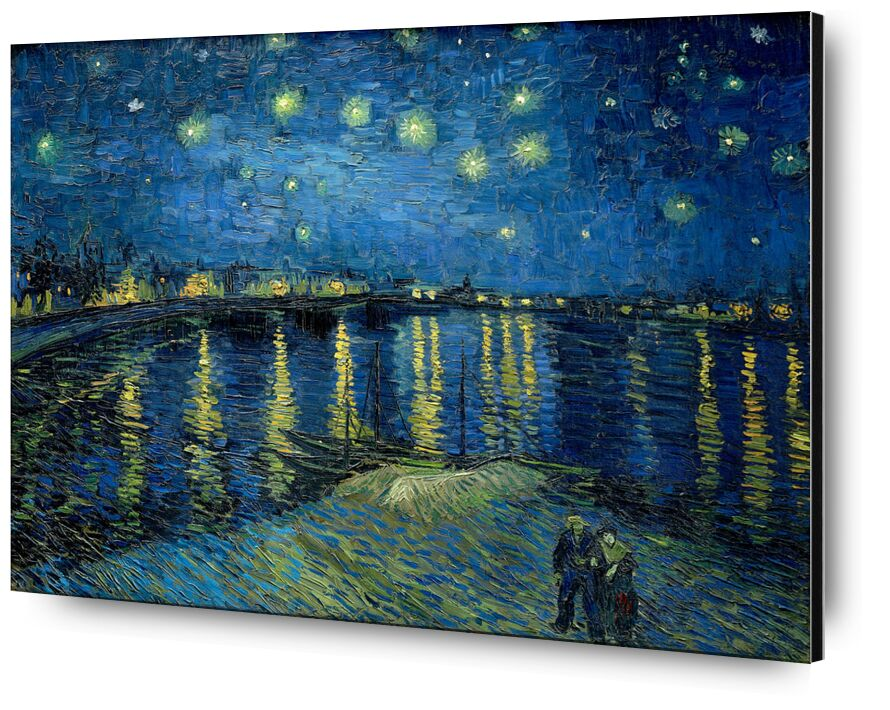 Starry Night Over the Rhone - Van Gogh desde AUX BEAUX-ARTS, Prodi Art, Van gogh, noche, Puerto, ciudad, estrellas, luces, Pareja, agua