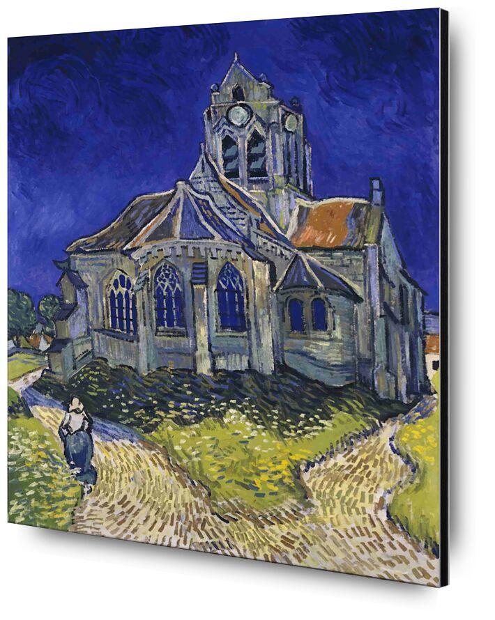 Auvers - Van Gogh desde AUX BEAUX-ARTS, Prodi Art, Van gogh, iglesia, pintura, casa, cielo