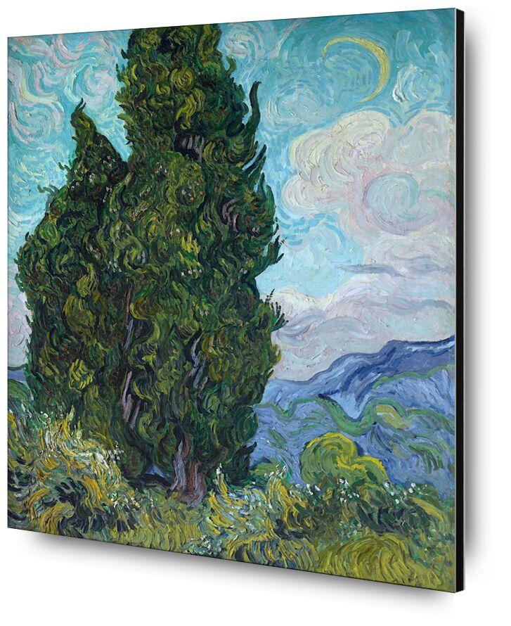 Cypresses - Van Gogh from AUX BEAUX-ARTS, Prodi Art, Sun, sky, landscape, nature, cypress, Van gogh