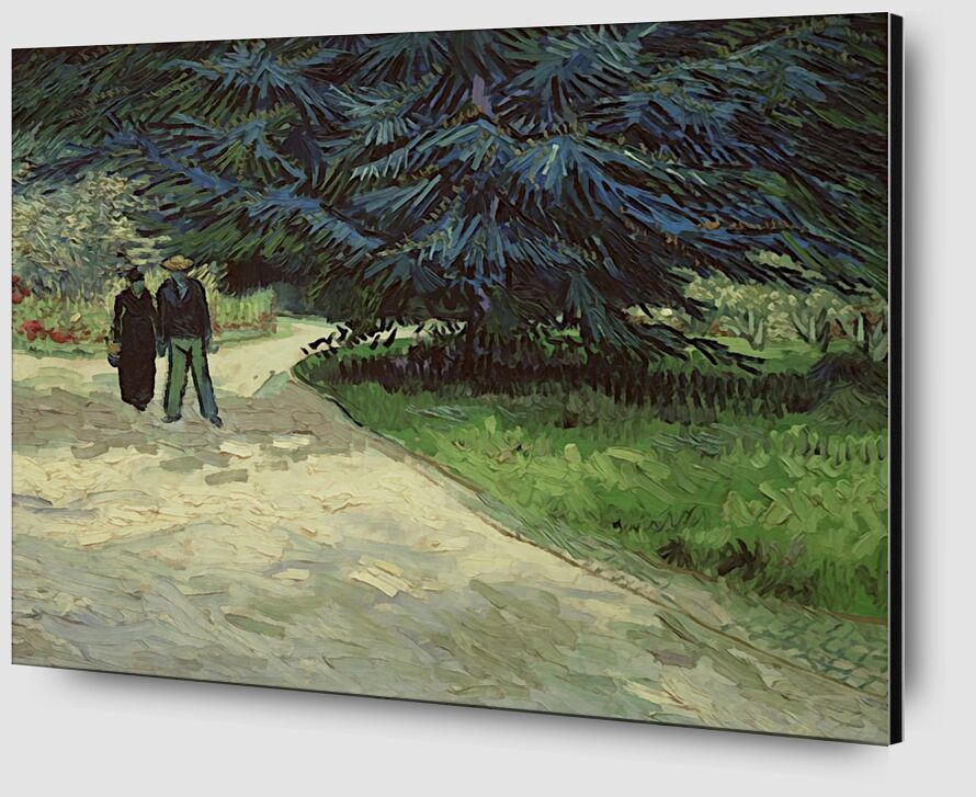 Couple in the Park - Van Gogh from AUX BEAUX-ARTS Zoom Alu Dibond Image