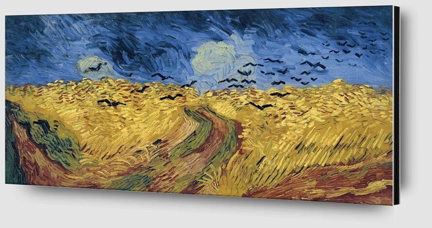 Wheatfield with Crows - Van Gogh desde AUX BEAUX-ARTS Zoom Alu Dibond Image