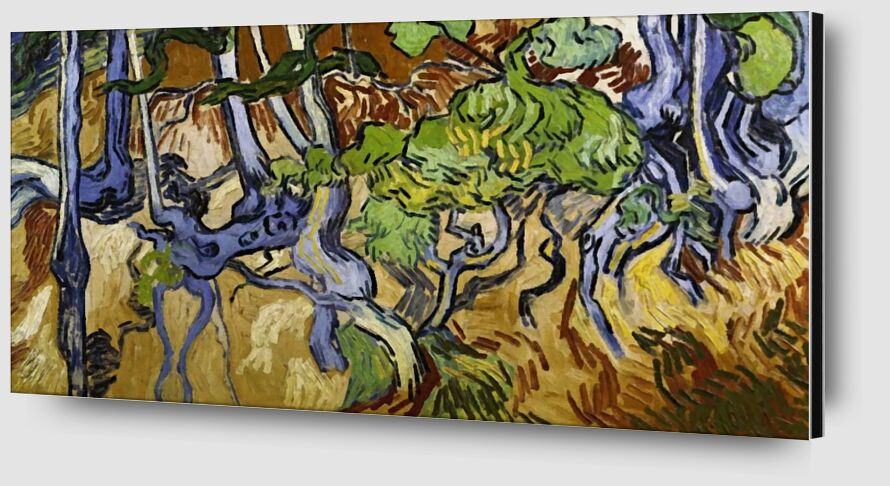 Tree Roots and Tree Trunks - Van Gogh desde AUX BEAUX-ARTS Zoom Alu Dibond Image