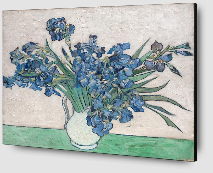 Irises - Van Gogh from AUX BEAUX-ARTS Zoom Alu Dibond Image