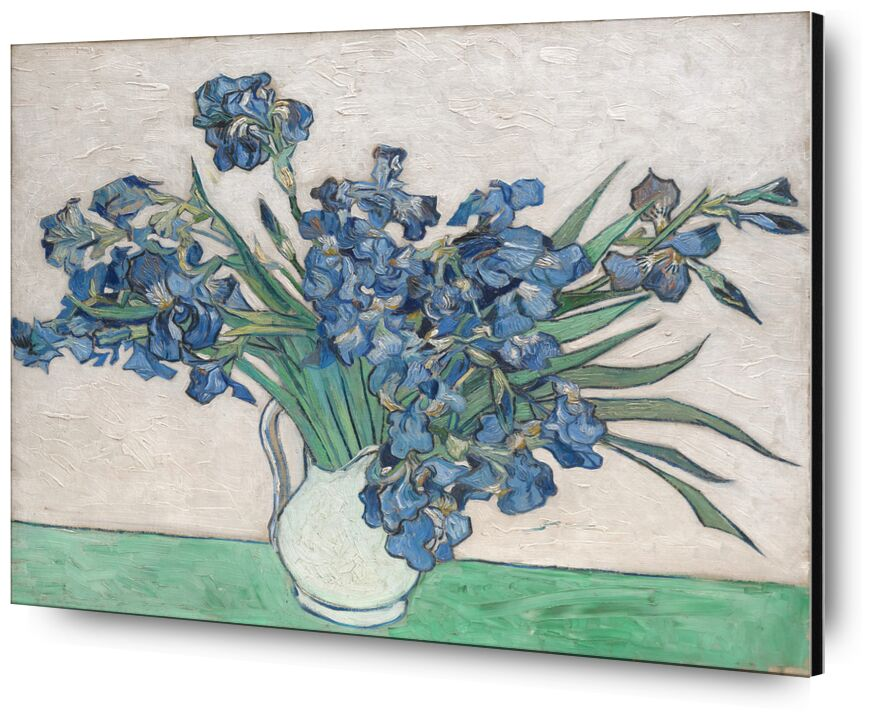 Irises - Van Gogh from AUX BEAUX-ARTS, Prodi Art, Van gogh, painting, iris, still life, flowers, bunch, bouquet of flowers