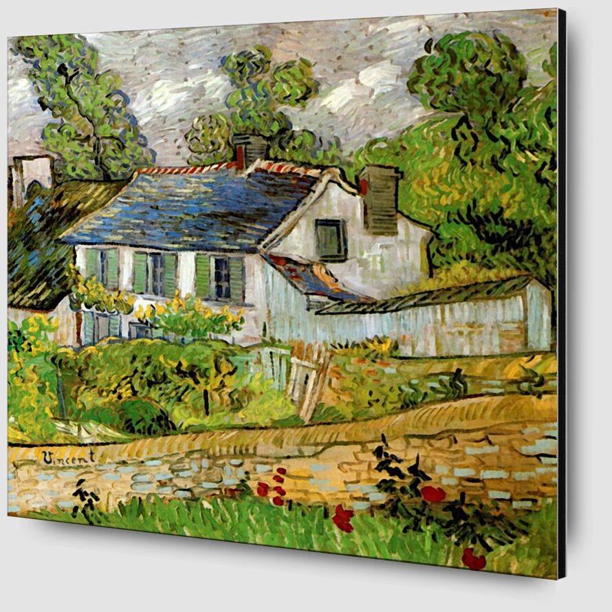 House in Auvers - Van Gogh desde AUX BEAUX-ARTS Zoom Alu Dibond Image