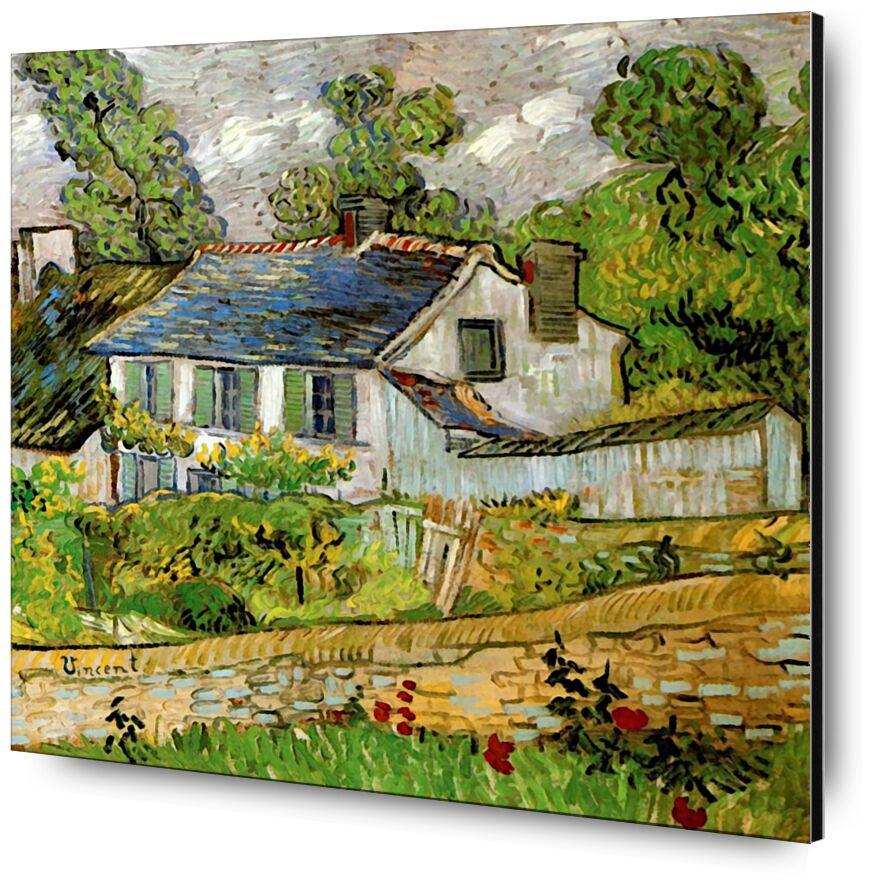 House in Auvers - Van Gogh desde AUX BEAUX-ARTS, Prodi Art, Van gogh, pintura, casa, Francia, encima