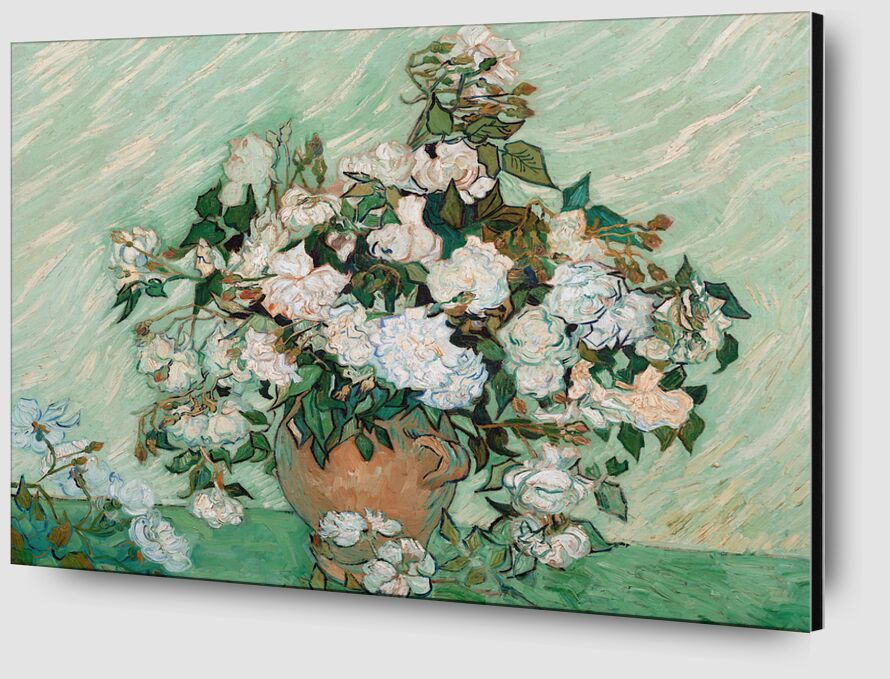 Roses - Van Gogh from AUX BEAUX-ARTS Zoom Alu Dibond Image