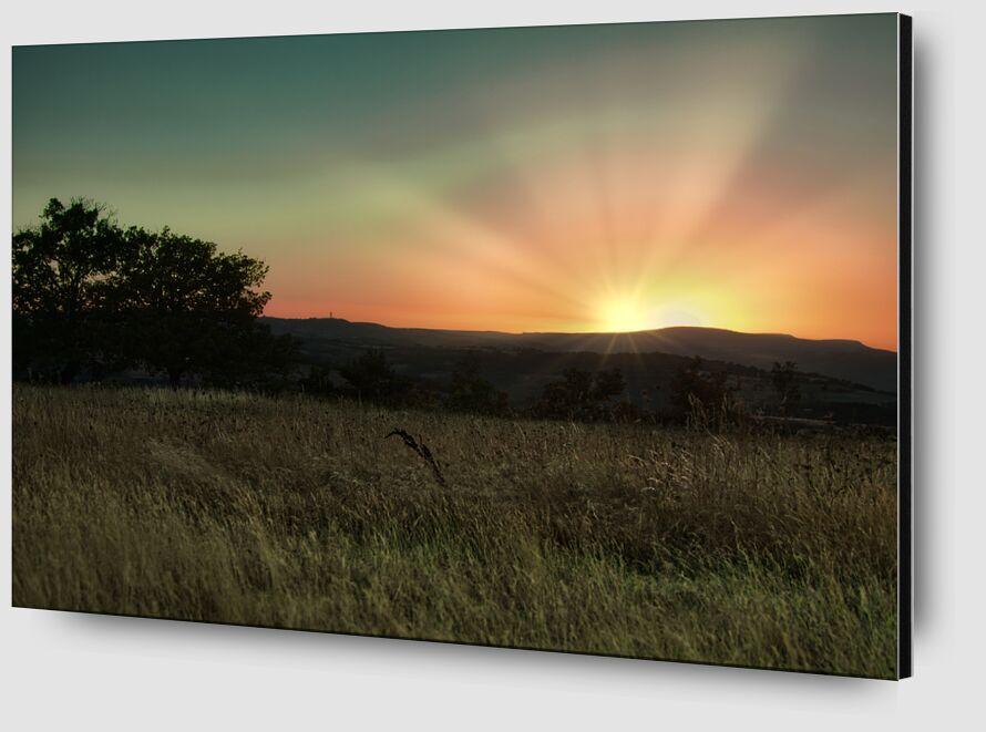Coucher de soleil cantalou de Céline Pivoine Eyes Zoom Alu Dibond Image