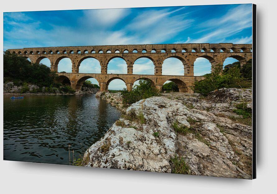 Le pont du Gard de Céline Pivoine Eyes Zoom Alu Dibond Image