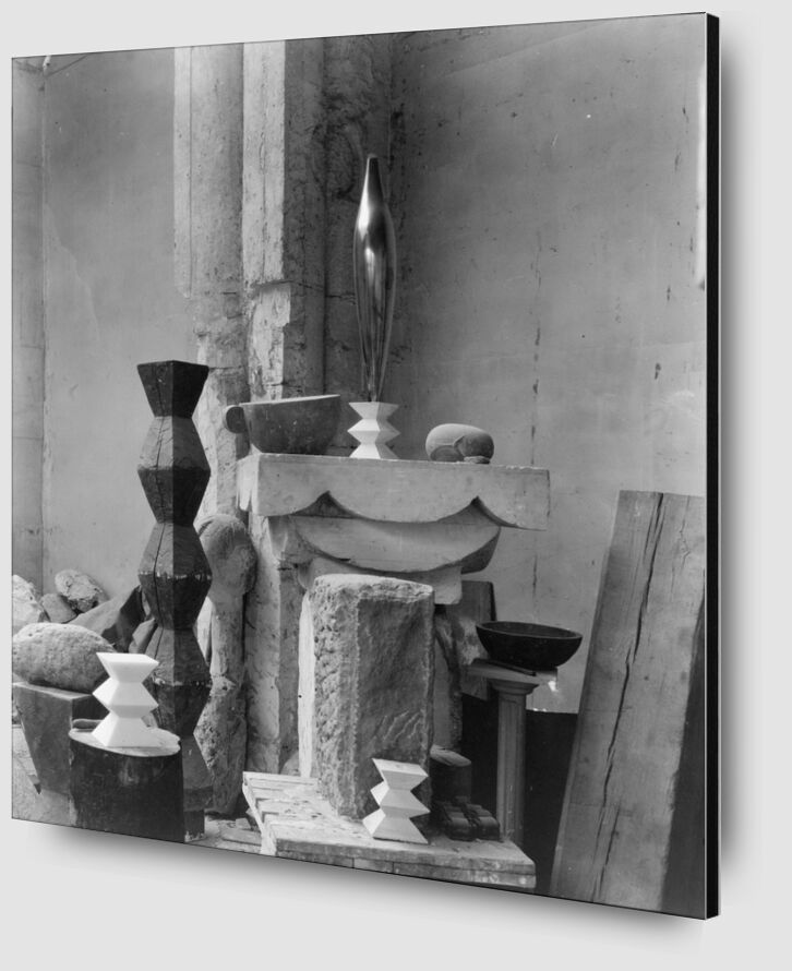 Brancusi's Studio, 1920 - Edward Steichen desde AUX BEAUX-ARTS Zoom Alu Dibond Image