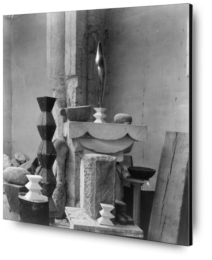 Brancusi's Studio, 1920 - Edward Steichen from AUX BEAUX-ARTS, Prodi Art, edward steichen, black-and-white, sculpture, workshop