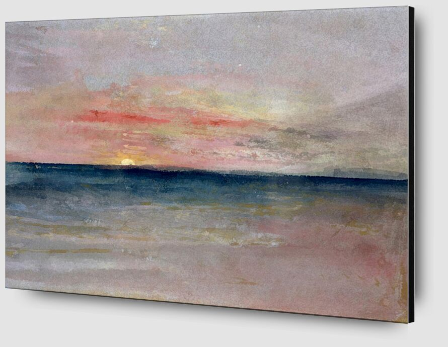 Sunset - TURNER desde AUX BEAUX-ARTS Zoom Alu Dibond Image