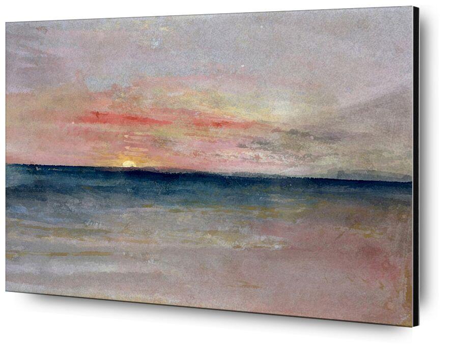 Sunset - TURNER from AUX BEAUX-ARTS, Prodi Art, TURNER, summer, beach, sea, sky, Sun, painting, sunset