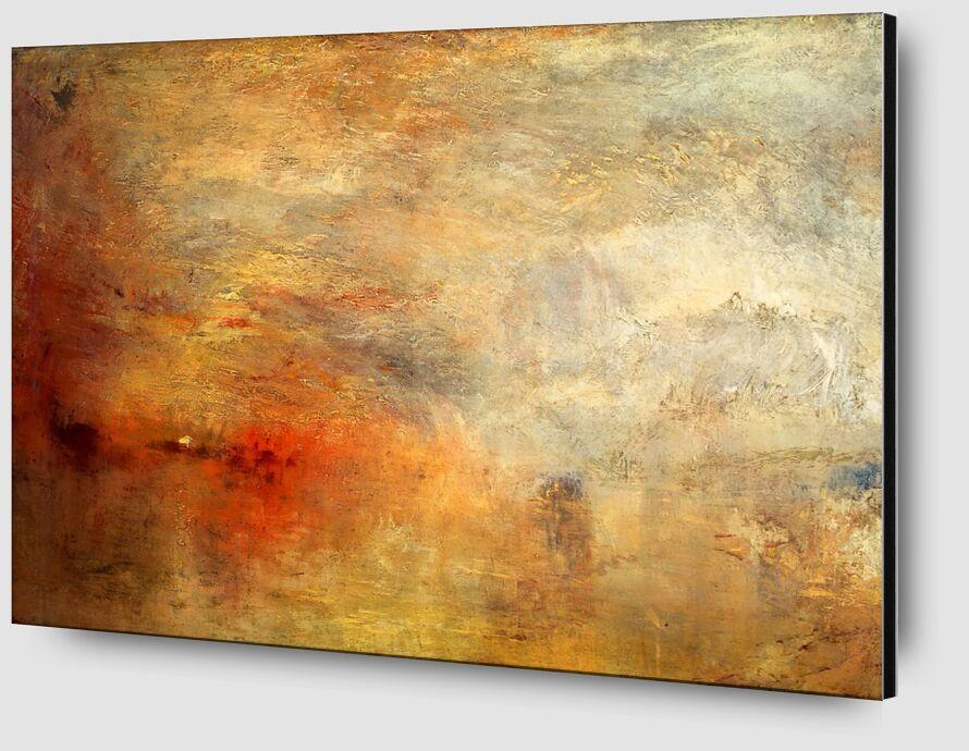 Sundown over a Lake - TURNER from AUX BEAUX-ARTS Zoom Alu Dibond Image