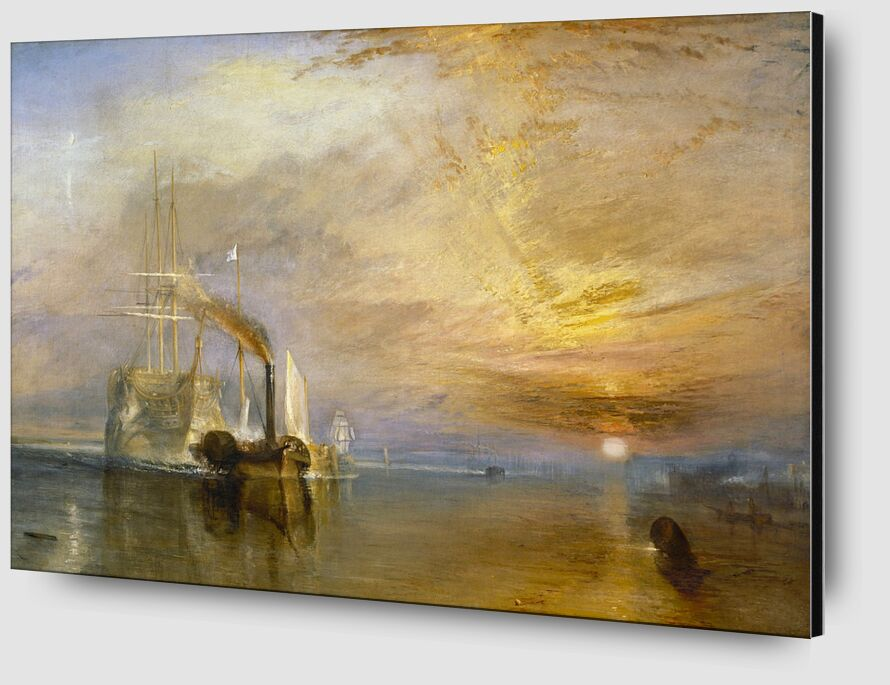 """The """"Fighting Temeraire"""" Tugged to Her Last Berth to be Broken Up - TURNER from AUX BEAUX-ARTS Zoom Alu Dibond Image"""