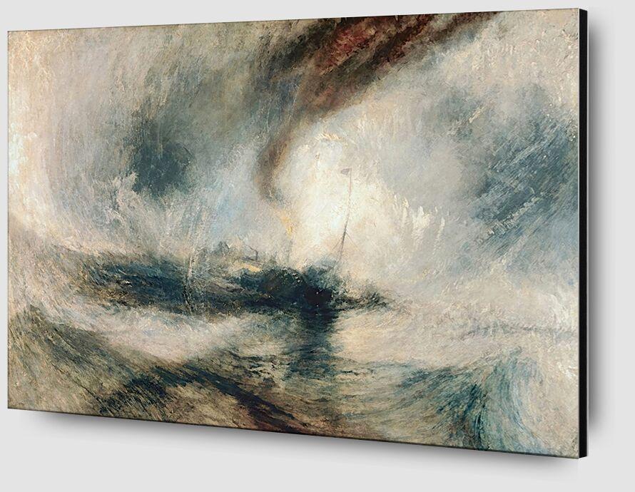 Tempête de Neige en Mer - TURNER de AUX BEAUX-ARTS Zoom Alu Dibond Image