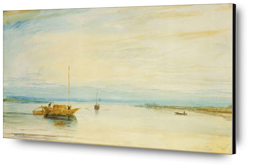 Mainz - TURNER desde AUX BEAUX-ARTS, Prodi Art, TORNERO, pintura, lago, barco, cielo, sol