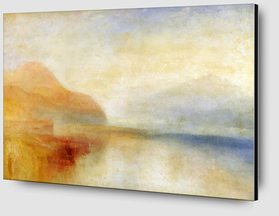 Inverary Pier, Loch Fyne, Morning - TURNER desde AUX BEAUX-ARTS Zoom Alu Dibond Image