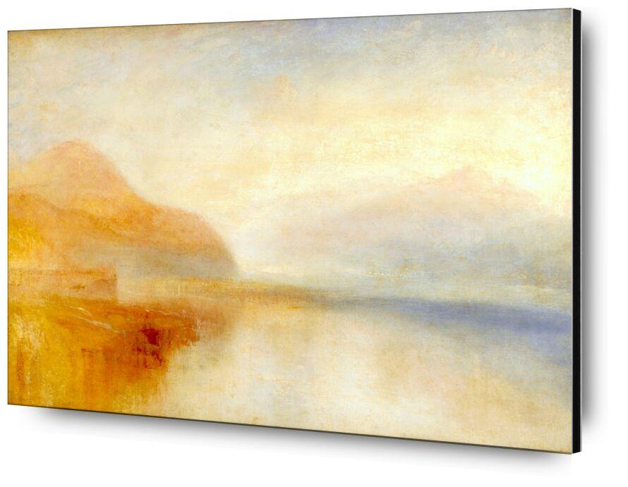 Inverary Pier, Loch Fyne, Morning - TURNER desde AUX BEAUX-ARTS, Prodi Art, TORNERO, quai, Puerto, montañas, mar, cielo