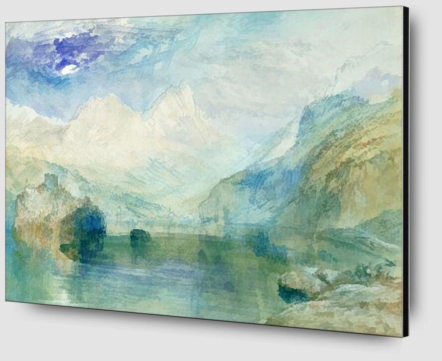 The Lowerzer See - TURNER desde AUX BEAUX-ARTS Zoom Alu Dibond Image