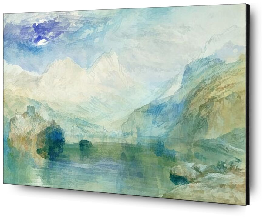 The Lowerzer See - TURNER from AUX BEAUX-ARTS, Prodi Art, TURNER, lake, mountains, painting