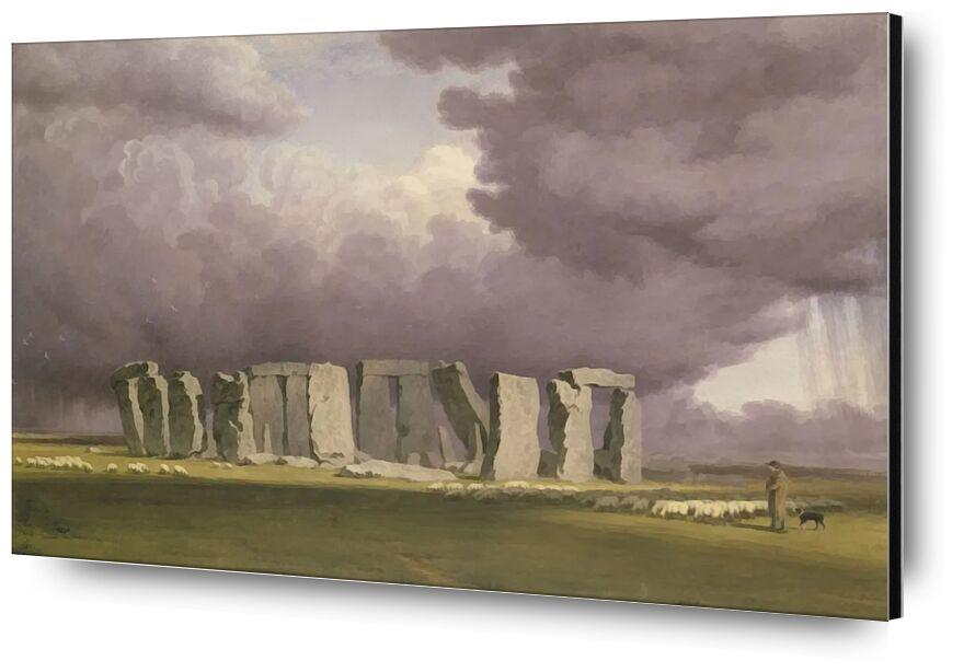 Stonehenge: Stormy Day desde AUX BEAUX-ARTS, Prodi Art, TORNERO, pintura, Inglaterra, tormenta, Stonehenge