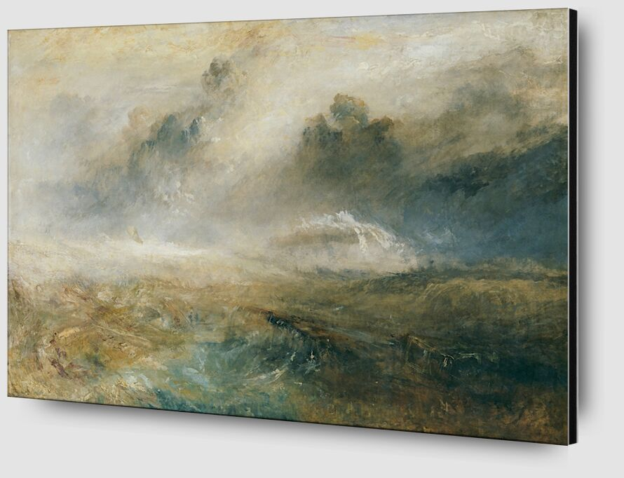 Rough Sea with Wreckage - TURNER desde AUX BEAUX-ARTS Zoom Alu Dibond Image