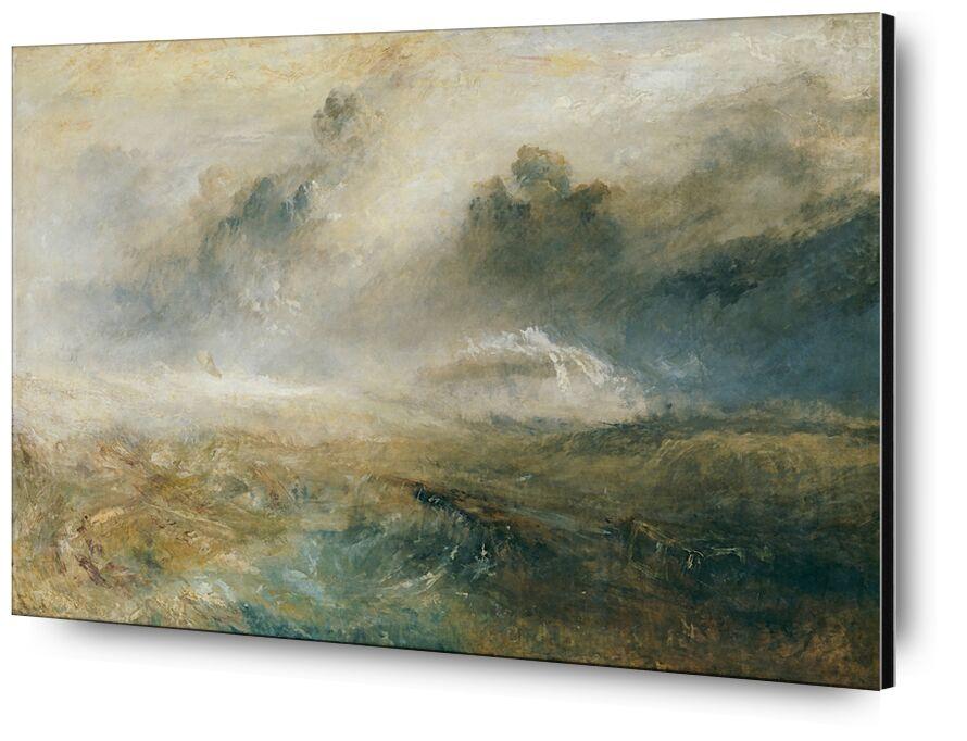 Rough Sea with Wreckage - TURNER desde AUX BEAUX-ARTS, Prodi Art, TORNERO, pintura, mar, tormenta, naufragios